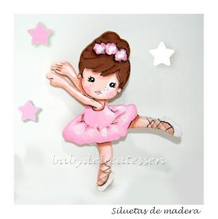 silueta infantil madera bailarina arabesque babydelicatessen