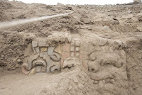3,500-year-old friezes discovered at Huaca Garagay in Lima, Peru