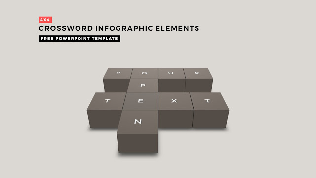 Crossword Puzzles Infographic Elements with 4x4 User's input for PowerPoint Templates