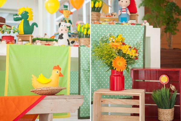 Tema para festa de aniversário - decoração de festas - jogos do sitio