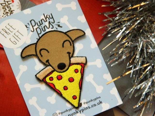 Pups and Pizza Embroidered Patch