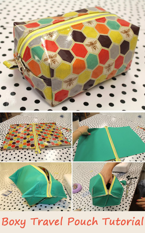 Boxy Travel Pouch Tutorial