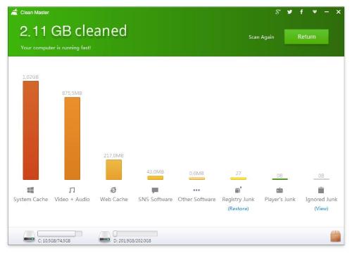 Future Web Net: Clean Master per PC: software free per rendere più