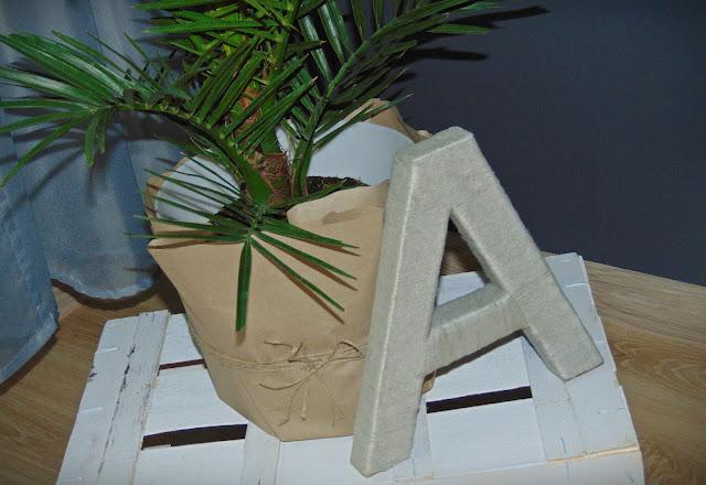 jak zrobić literę z kartonu