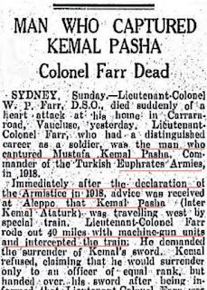 """Avustralya Basınında """"Mustafa Kemal'i Esir Alan Anzaklar"""" Masalı"""