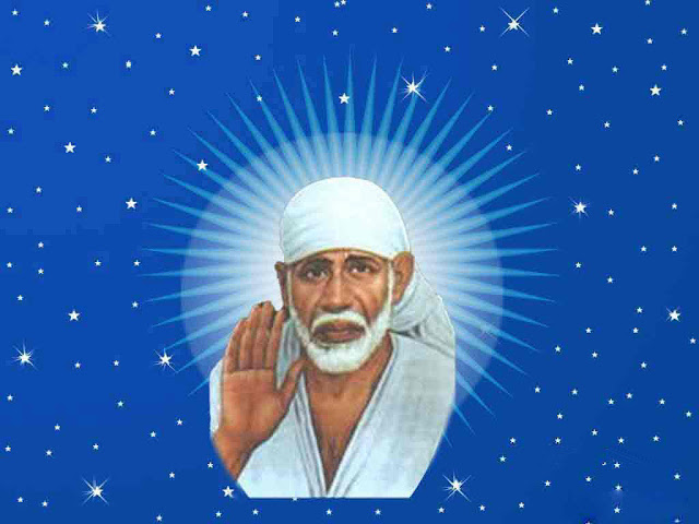 Best Lord Sai Baba Face HD Wallpaper