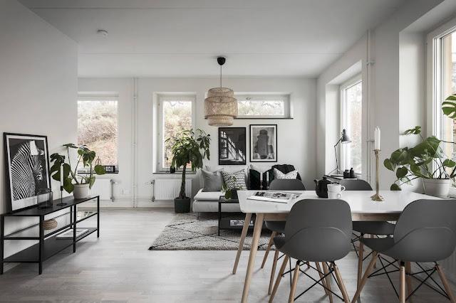 Garsonieră de 36 m² cu bucătărie deschisă către living și dormitor amenajat într-o nișă
