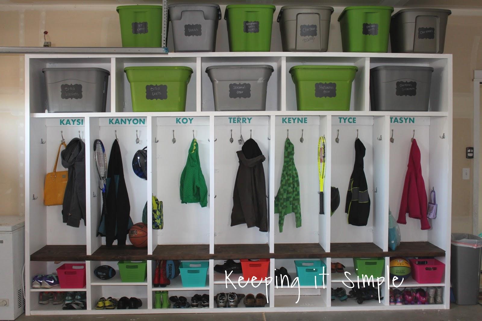 Mudroom Storage Garage : Keeping it simple diy garage mudroom lockers with lots of