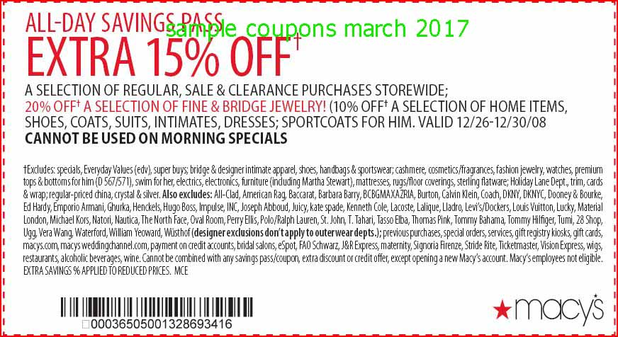 Printable coupons for macys march 2018