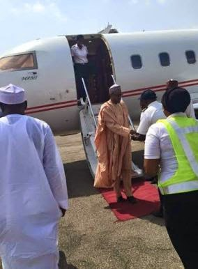unnamed Photos: Buhari arrives Abuja to await declaration of results by INEC