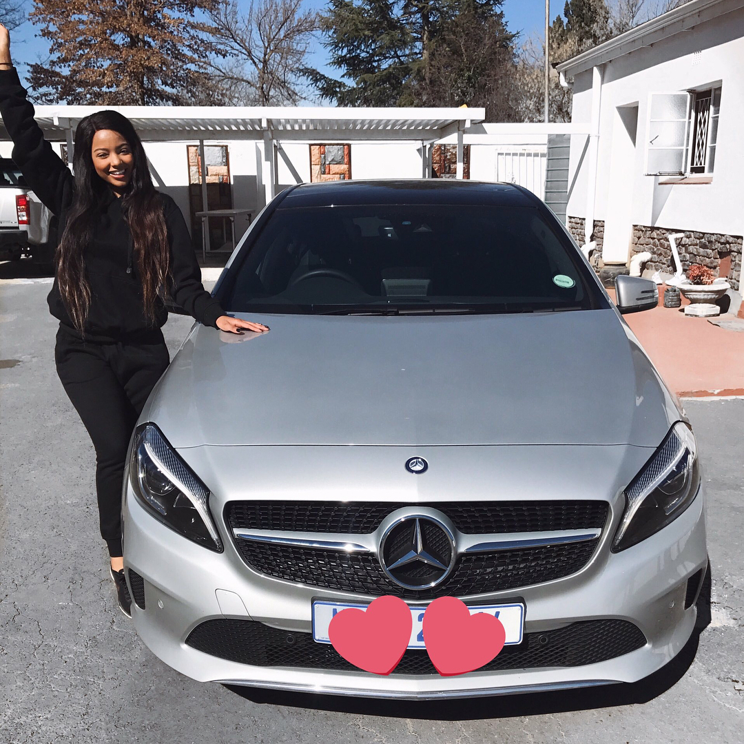 Mihlali Ndamase Blesses Herself With A Brand New Car