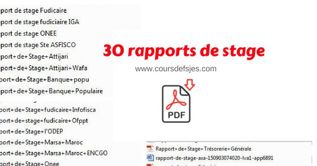 RAPPORT STAGE OFPPT EXEMPLE DE DE TÉLÉCHARGER