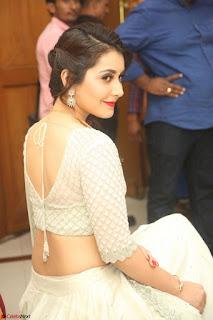Raashi Khanan looks stunning in Crop Top Deep neck Choli Ghagra Transparent Chunni WOW ~  Exclusive Celebrities Galleries 015