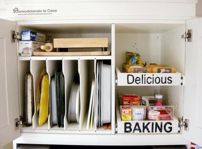 Delicious Baking cabinet organization
