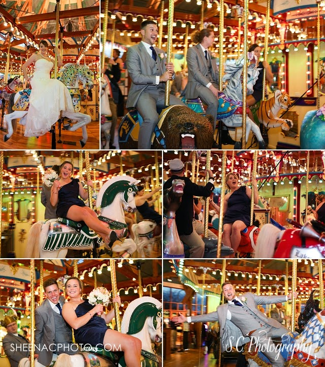 Shadowland carousel wedding photos ballroom silver beach photography