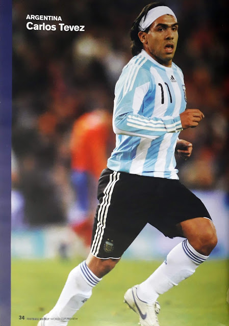 CARLOS TEVEZ OF ARGENTINA