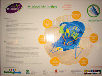 Mastela Musical Melodies Musical Vibrations Bouncer