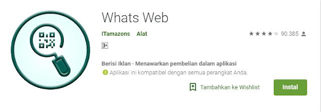 Download Aplikasi Whats Web APK Gratis