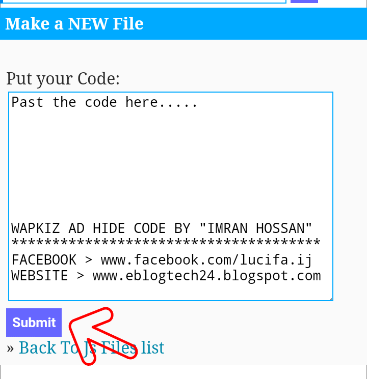 Hide Wapkiz Footer AD 100% Working 2019 Method - WikiBN