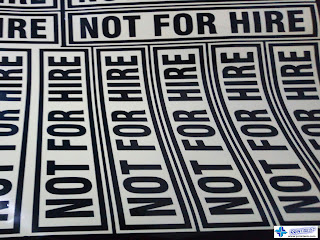 Die-Cut Letters - Not For Hire