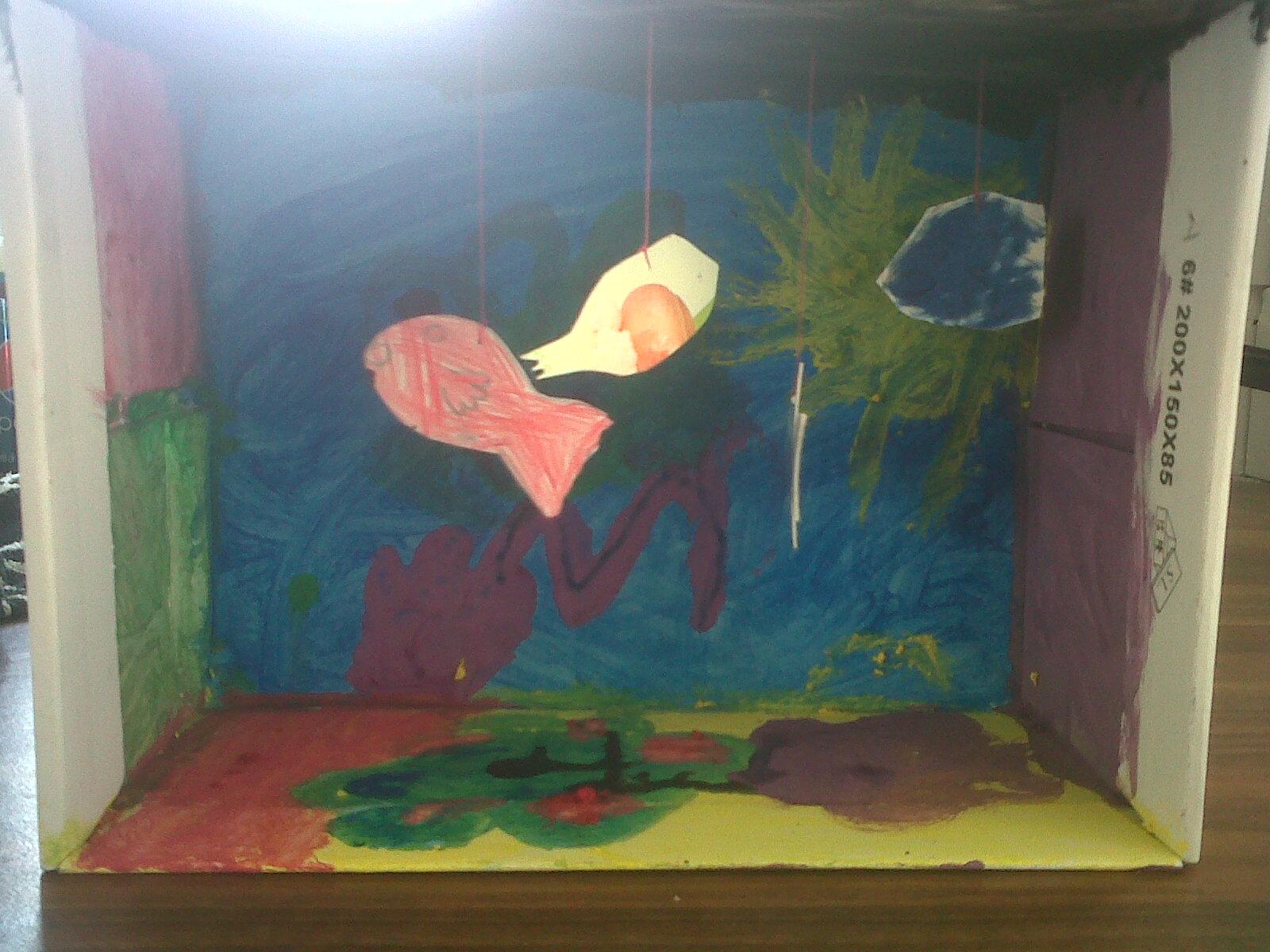 How to make a shoebox aquarium