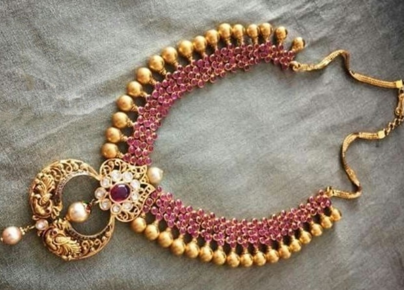 Ruby stones necklace design collections - Latest Jewellery Design ...