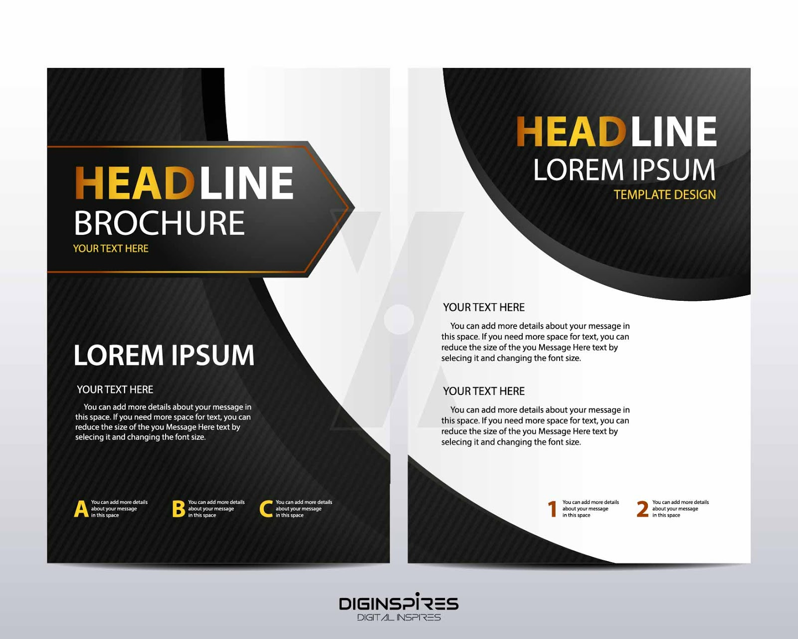 Simple And Modern Black Brochure Template Design
