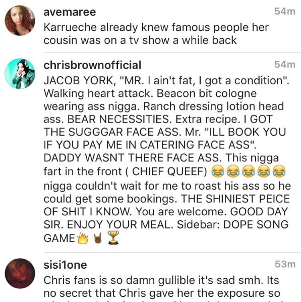 Chris Brown roasts Karrueche Tran's manager for saying she was already popular before dating him