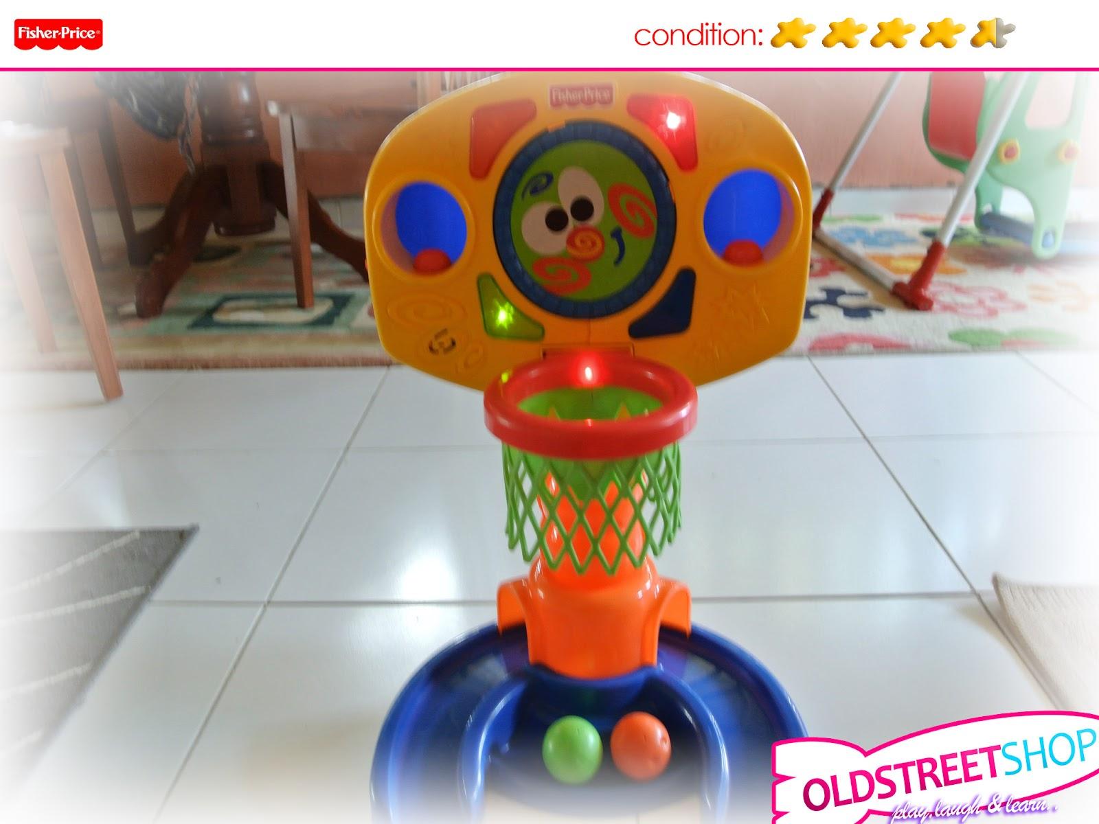Oldstreetshop Fisher Price Basketball Hoop