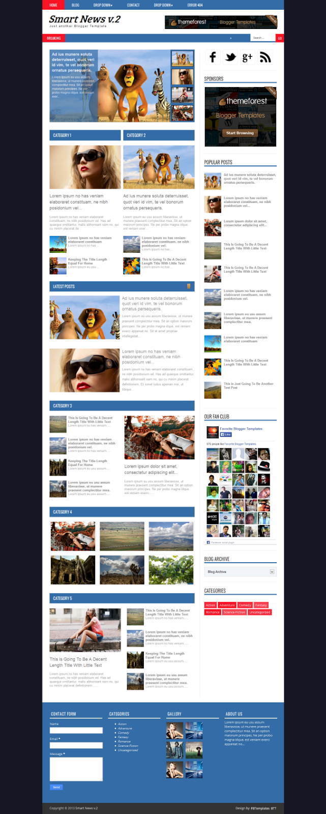 Smart News V2 Blogger Template