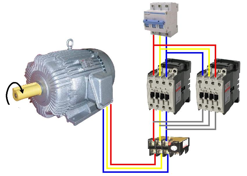 Wiring Diagram Motor Bolak Balik  Forward Reverse Three Phase Motor