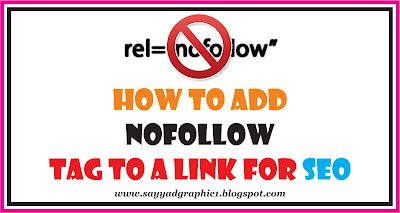 How to add nofollow link attribute to any link - SEO Tips