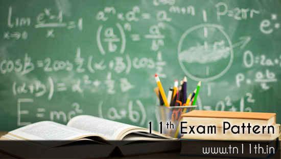 Tamilnadu 11th Exam Pattern