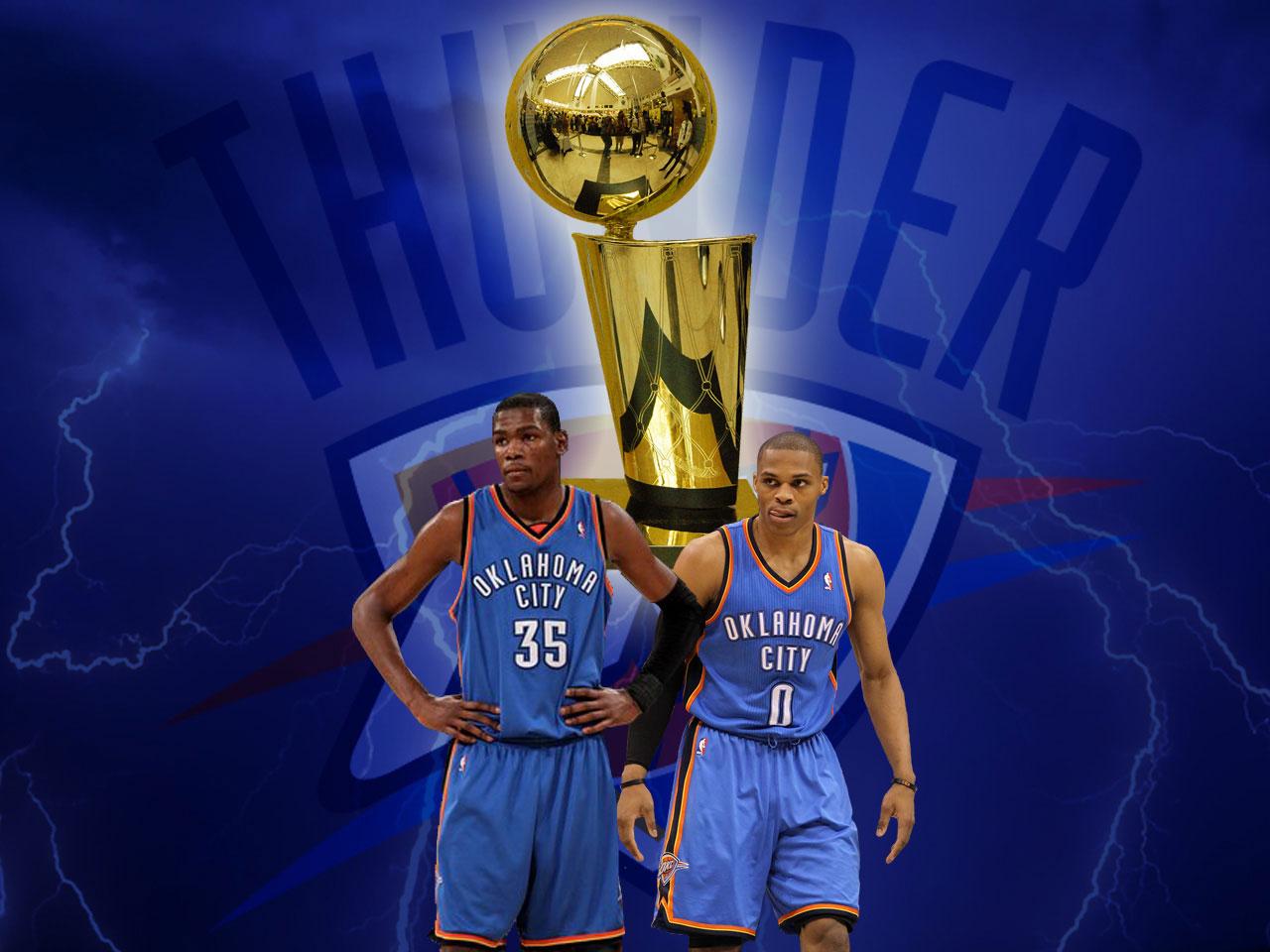 Oklahoma City Thunder NBA Trophy Wallpaper ~ Big Fan of ...