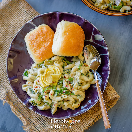 Instant Pot Spinach Artichoke Mac & Cheese
