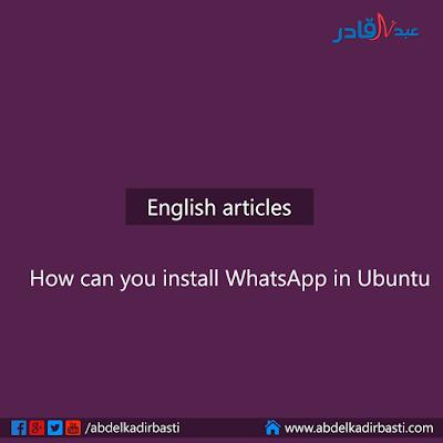 How can you install WhatsApp in Ubuntu