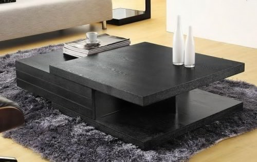 Black Multi Layered Table Center Table Design For Living Room Multi Layer  Artistic With Slider Furry Part 37