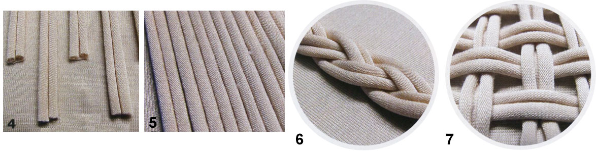 Декорирование одежды трикотажными элементами