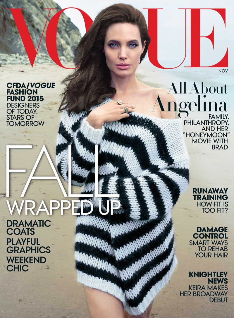 Angelina Jolie covers Vogue US November 2015