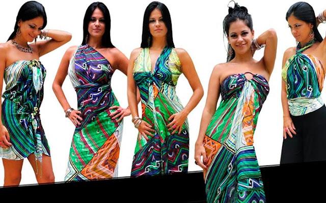 Como usas lenço vestido
