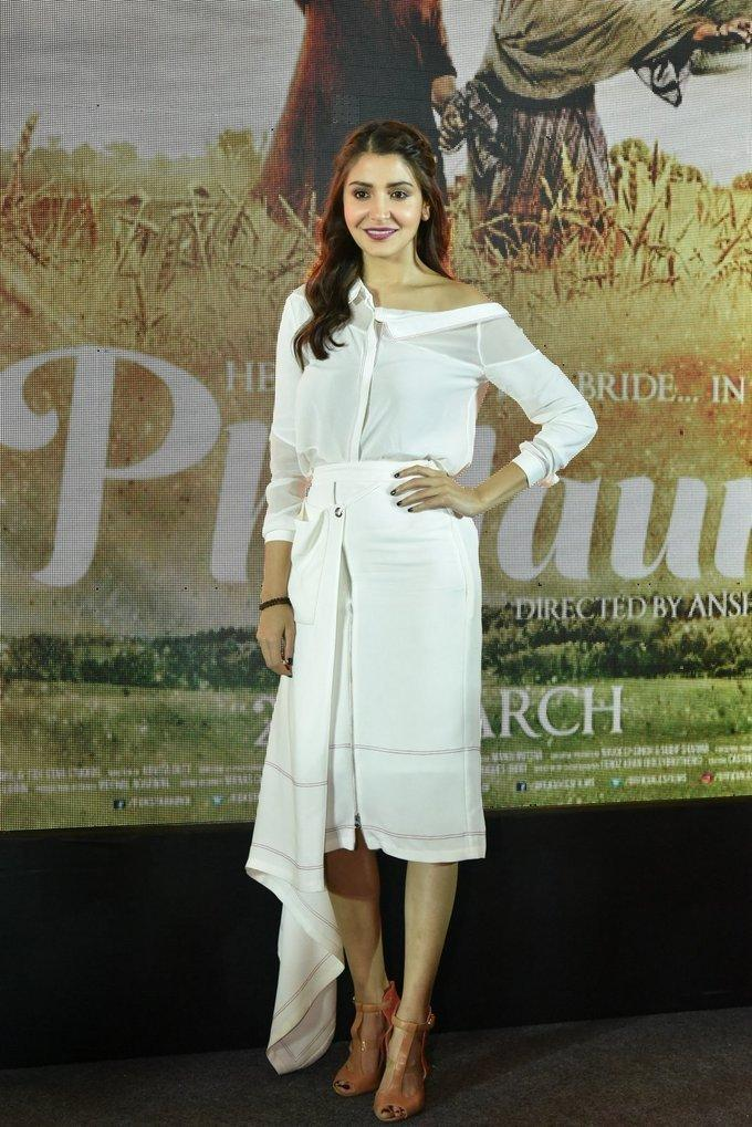 Anushka Sharma At Movie Promotion In White Dress