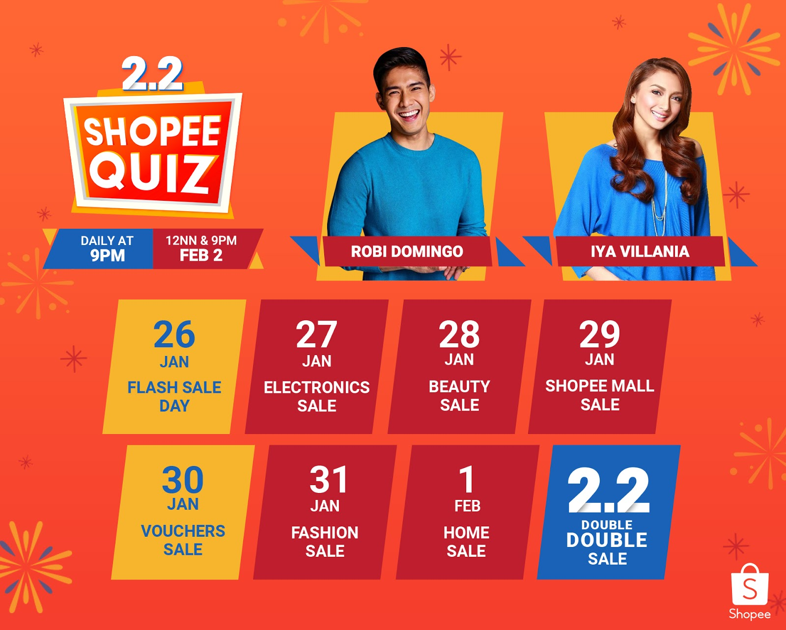 Join the craze and tune in via in-app game Shopee Quiz.