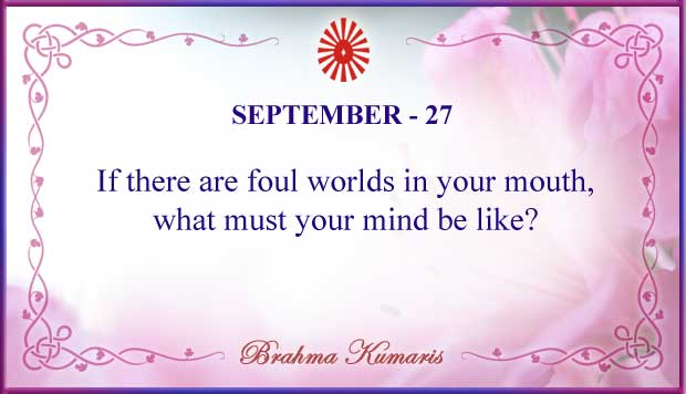 Thought For The Day September 27