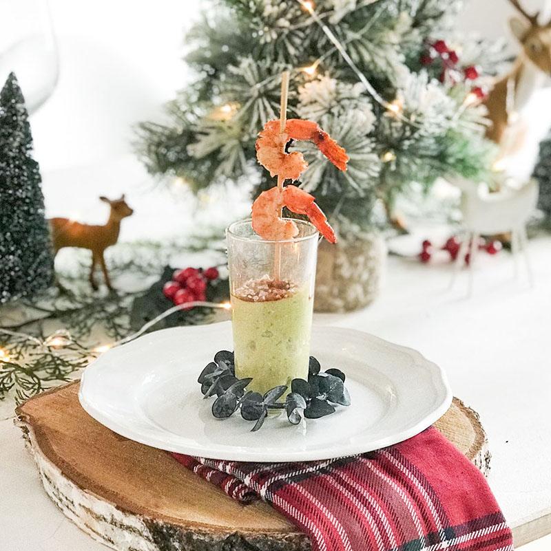 Un receta fácil para Navidad: Hummus de aguacate y gamba roja con La Sirena
