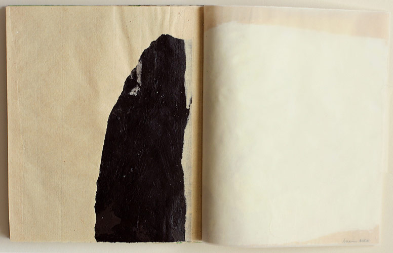 Falling In Place, 2001. acrylic on paper. 28 pages, book dimensions 14.2 x 12.7 cm