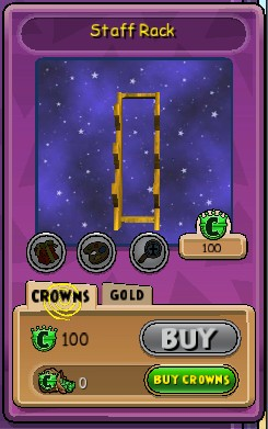 wizard101 weapon rack