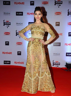 Urvashi Rautela in Golden Dress