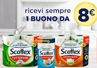 Logo Scottex ''Un Amore di casa'': ricevi sempre un buono sconto da 8€
