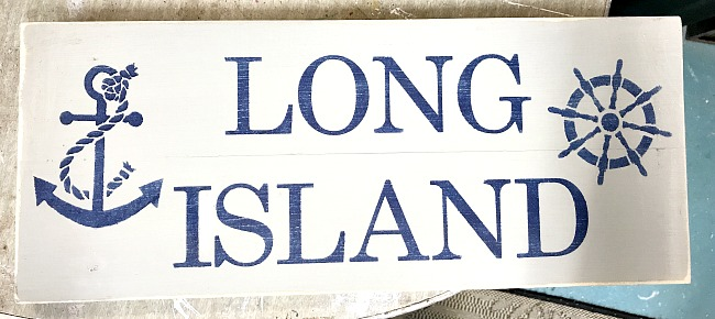 Wooden Long Island Sign