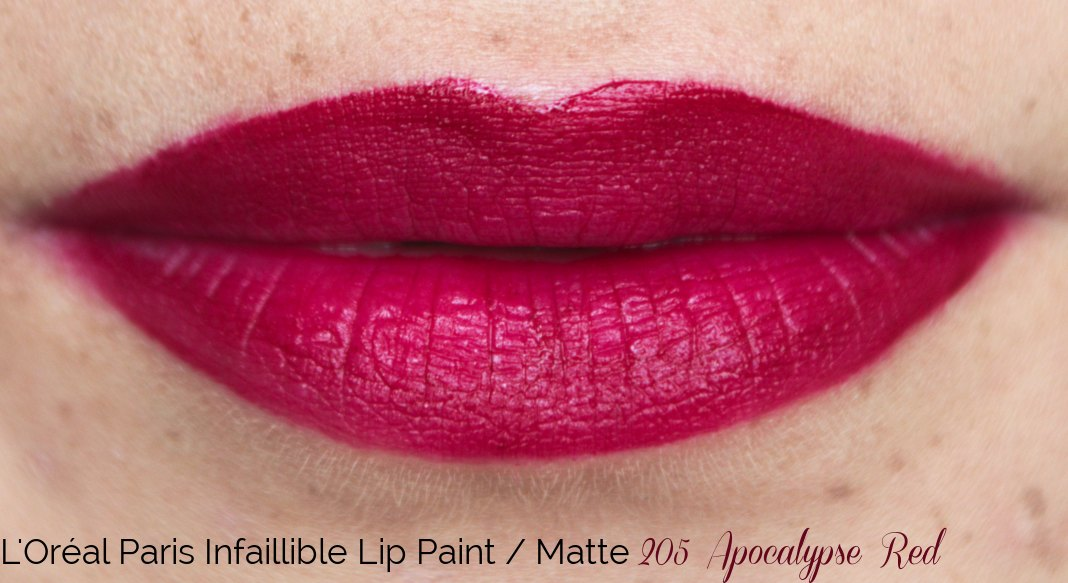 L'Oréal Paris Infaillible Lip Paint Matte 205 Apocalypse Red